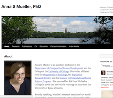 Website of Dr. Anna Mueller