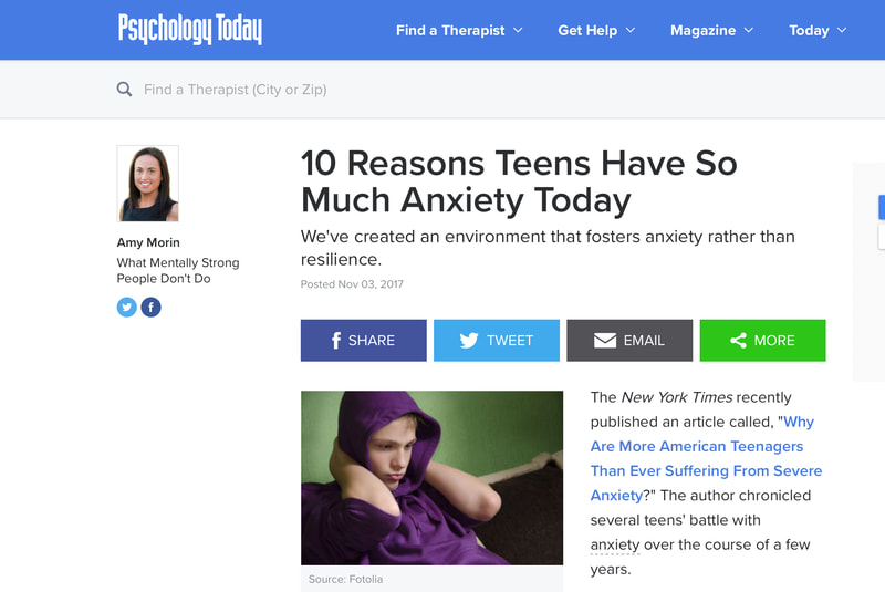 10 Reasons Teens Have Anxiety Article